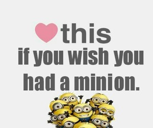 minions, heart, and wish image