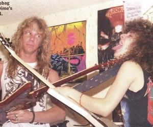 80's, James Hetfield, and old school image