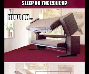 funny, couch, and bed image