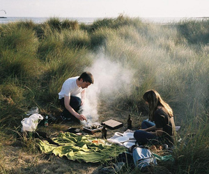 couple, picnic, and boy image