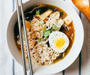 food, ramen, and egg image