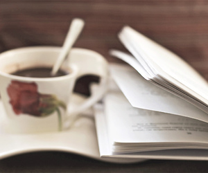 book, cafe, and coffee image