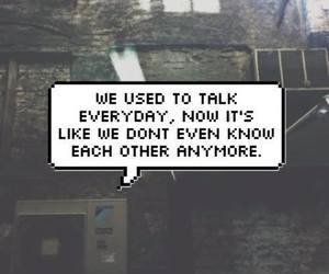 quote, sad, and talk image
