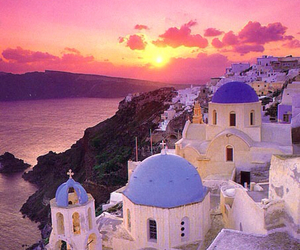 Greece, sunset, and amazing image