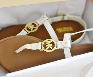 brand, golden, and sandals image