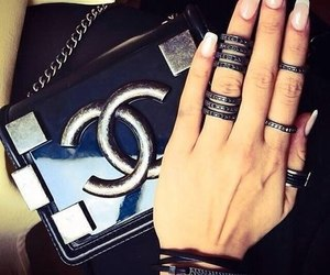 chanel, nails, and rings image