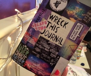 cover, keri smith, and wreck this journal image