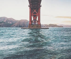 bridge, water, and sea image