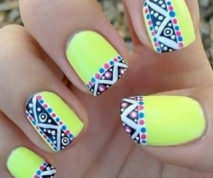 colorful, nail art, and nail polish image