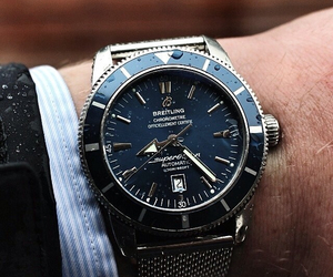watch, breitling, and men's image