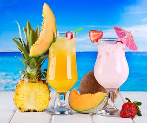 juice, cocktail, and drink image