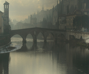 bridge, italy, and verona image