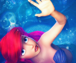 blue, part of your world, and little mermaid image