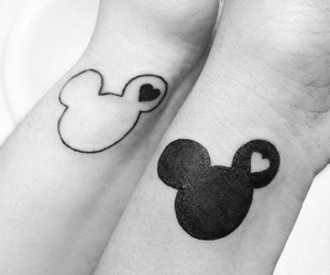 black and white, forever, and micky mouse image