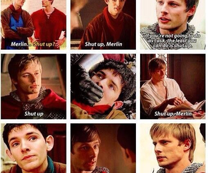 arthur, friendship, and merlin image