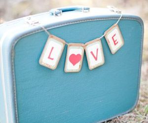 love and suitcase image
