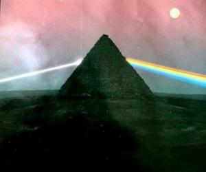 Pink Floyd, rainbow, and pyramid image