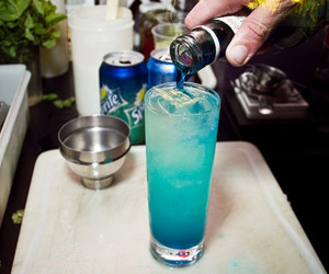 drink, blue, and sprite image