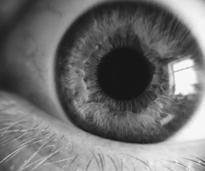 black, eye, and black and white image