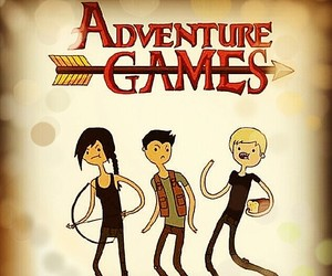 cartoons, katniss, and gale image