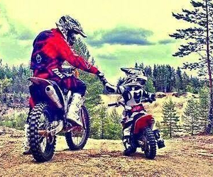 family, moto, and son image
