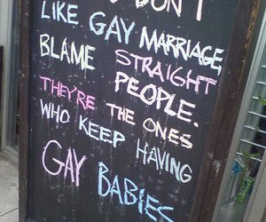 gay, straight, and gay marriage image