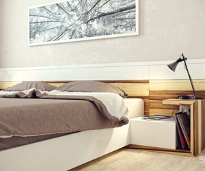 bedroom, contemporary painting, and luxurious bedroom image