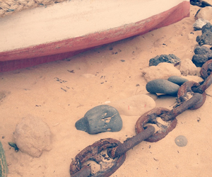 beach, rope, and sand image