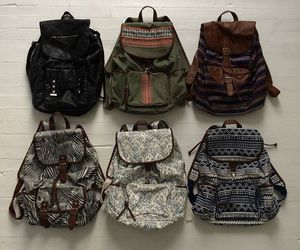 bag, backpack, and hipster image