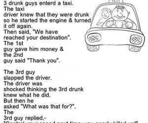 drunk, funny, and taxi image