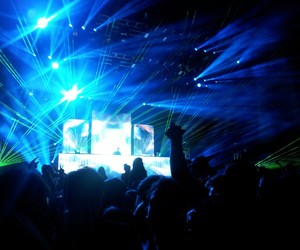 bright, edm, and lights image