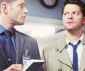 supernatural, castiel, and destiel image