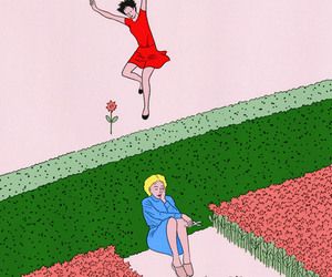 flowers, art, and happy image
