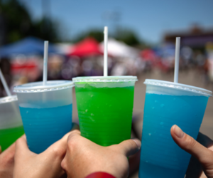 drink, photography, and blue image