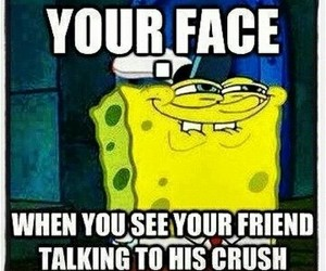 crush, face, and friend image
