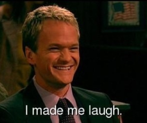 funny, laugh, and himym image