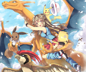 anime, girl, and pokemon image
