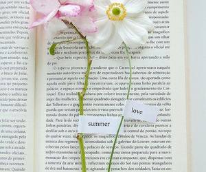 flowers, book, and summer image