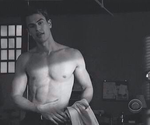 black and white, theo james, and four image