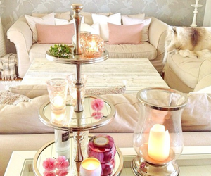 candles and living room image