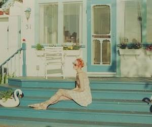 blue, girl, and home image