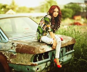 girl, car, and beautiful image