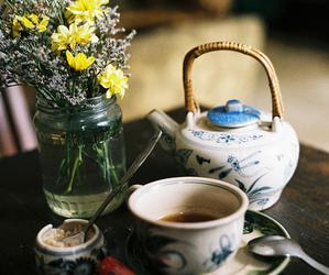 vintage, flowers, and tea image