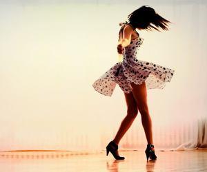 girl, dress, and dance image