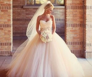 ball gown, dress, and flower image