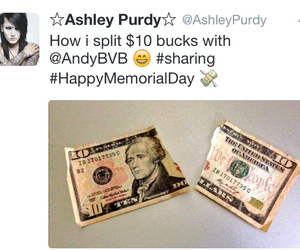 money, sharing, and twitter image
