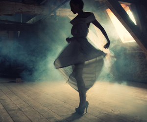 dancing, the dress, and fashion image