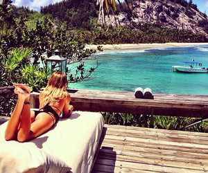 beautiful, blondes, and ocean image