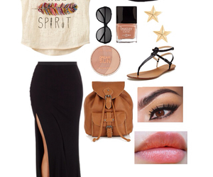 bag, feather, and outfit image