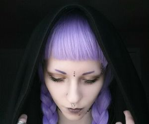 girl, goth, and grim reaper image